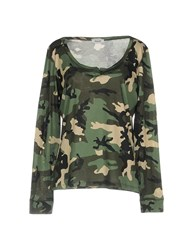 Base London T Shirts Military Green