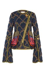 Peter Pilotto Quilted Short Jacket Navy