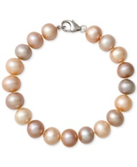 Belle De Mer Multi Color Cultured Freshwater Pearl Bracelet In Sterling Silver 9 1 2Mm