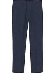 Burberry Classic Fit Tailored Trousers Blue