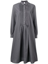 Aspesi Pinstripe Shirt Dress Grey
