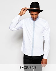 Reclaimed Vintage Smart Shirt With Contrast Collar And Placket White