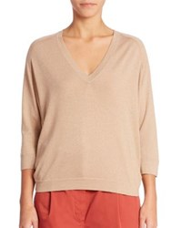 Brunello Cucinelli Cashmere Blend Top Hazelnut
