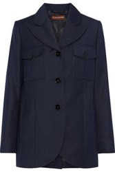 Alexachung Pinstriped Wool Blazer Navy
