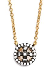 Women's Freida Rothman 'Metropolitan' Small Pendant Necklace Gunmetal Gold
