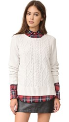 Bb Dakota Aries Chenille Cable Sweater Ivory