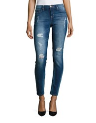Dittos Distressed Five Pocket Jeans Thunder Bird