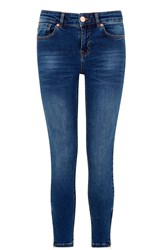 Oasis Havannah Isabella Skinny Crop Denim Light Wash