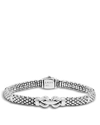 Lagos Derby Small Buckle Sterling Silver Caviar Bracelet