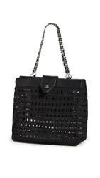 Wgaca What Goes Around Comes Around Chanel Black Woven Basket Mini Bag