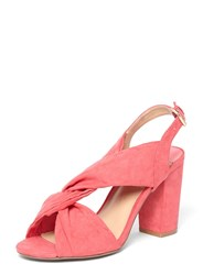 Dorothy Perkins Wide Fit Pink 'Simba' Knot Heel Sandals