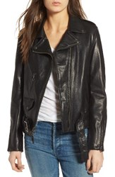 Schott Nyc Women's Lightweight Perfecto Leather Jacket Black