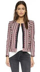 Twelfth St. By Cynthia Vincent Brocade Jacket Red
