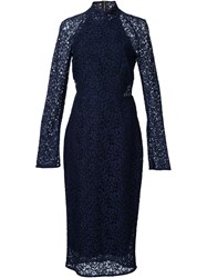 Rebecca Vallance 'Dolce Vita' Long Sleeve Pencil Dress Blue