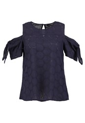 Dorothy Perkins Blouse Navy Blue Dark Blue