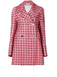 Marni Double Breasted Coat Red