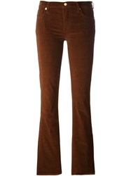 7 For All Mankind Corduroy Flared Trousers Brown