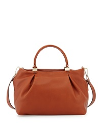 Kooba Loretta Leather Satchel Bag Cognac Red