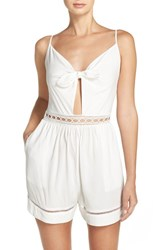 Seafolly Women's Tie Front Playsuit Cover Up