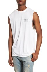 Spiritual Gangster Good Vibes Graphic Muscle Tank Whisper White
