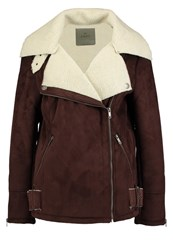 Adpt. Adptaviator Faux Leather Jacket French Roast Dark Brown