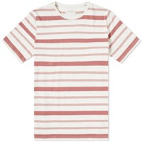 Oliver Spencer Conduit Mixed Stripe Tee Pink