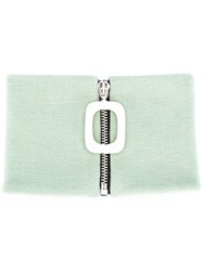 J.W.Anderson Jw Anderson Zipped Knitted Neckband Green