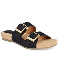 Giani Bernini Jijee Footbed Sandals Only At Macy's Women's Shoes Black
