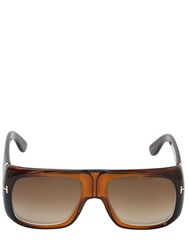 Tom Ford Rectangular Injected Sunglasses Tortoiseshell