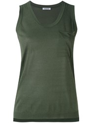 P.A.R.O.S.H. Knitted Tank Top Women Cotton Viscose S Green