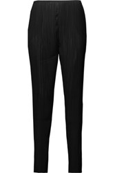 Toteme Tangier Pleated Chiffon Tapered Pants Black