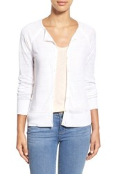 Women's Tommy Bahama 'Lea' Long Sleeve Linen Cardigan White