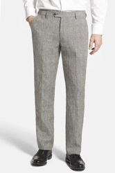 Bonobos Straight Leg Cotton And Linen Trousers Gray