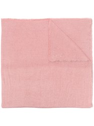 Faliero Sarti Frayed Edged Scarf Pink