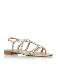 Stuart Weitzman Samoa Chain Trim Sandal Female Gold