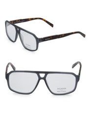 Balmain 59Mm Aviator Tortoiseshell Eyeglasses Dark Grey