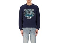 Kenzo Men's Tiger Embroidered French Terry Sweatshirt Navy