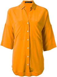 Andrea Marques Silk Shirt Yellow Orange