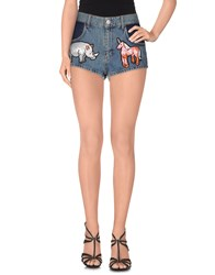 Au Jour Le Jour Denim Denim Shorts Women Blue