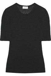 Christophe Lemaire Ribbed Wool Top Dark Green