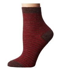 Richer Poorer Skimmer Ankle Wool Brown Red Women's Crew Cut Socks Shoes