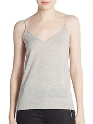 Equipment Layla Cashmere Knit Camisole Grey