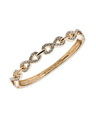 Anne Klein Goldtone Infinity Bangle Bracelet