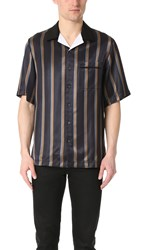 3.1 Phillip Lim Striped Bowler Shirt Navy