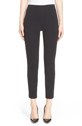 Women's St. John Collection 'Alexa' Stretch Milano Knit Ankle Pants Caviar