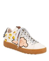 Coach C101 Sneaker With Cloud Patches White Chalk White