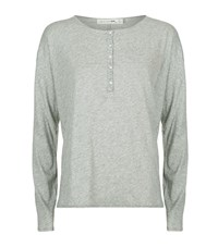 Rag And Bone Slacker Henley Long Sleeve T Shirt Female Grey