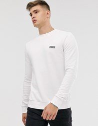 Boss Hugo Logo Sweatshirt White