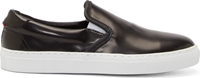 Diemme Black Leather Slip On Garda Sneakers