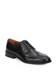 Johnston And Murphy Hernden Leather Lace Up Loafers Black